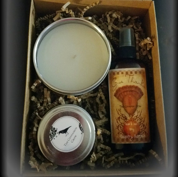 Thanksgiving Gift Box ~ Candle, Rooms spray, Simmering Spices