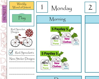 Pay day Planner Stickers, Payday Stickers (PD02)