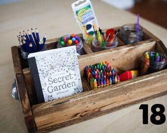 "18"" Rustic Wooden Craft Box, Storage Box, Rustic Box, Rustic Storage Box, Rustic Craft Box, Rustic Organization Box"