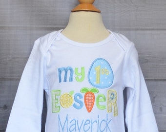Personalized My 1st Easter Applique Shirt or Bodysuit Girl or Boy
