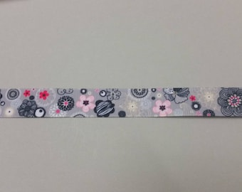 Gros Grain Ribbon - Floral - 22 mm