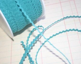 "AQUA Mini Rick Rack - Turquoise Sewing Crafting Ric Rac Trim - 11/64"" Wide - 10 Yards"