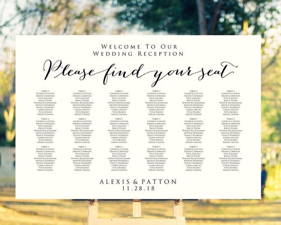 Please find your seat seating chart template in four sizes please please find your seat seating chart template in four sizes please find your seat sign wedding seating poster diy reception sign from crossvinedesigns on solutioingenieria Choice Image