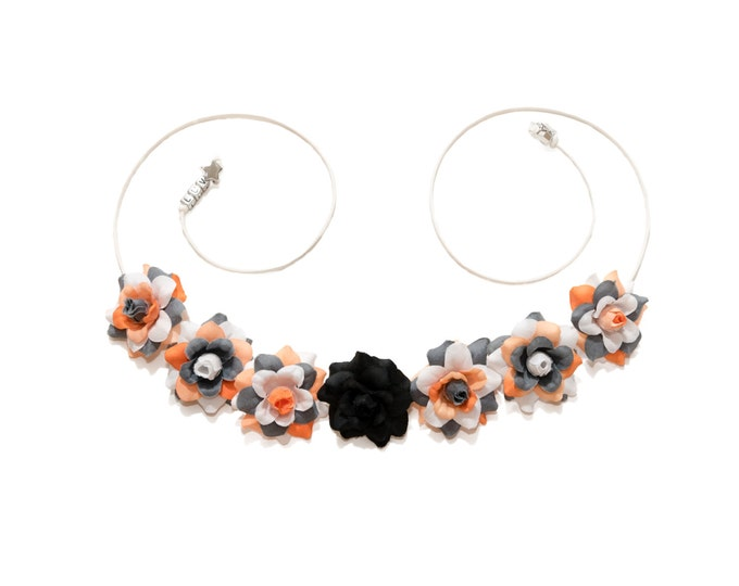 Orange Droid Flower Crown