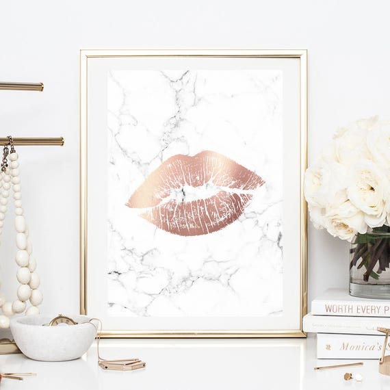 Lovely Rose Gold Marble Prints, Rose Gold Marble Decor, Marble Poster Prints,  Marble Room Decor, Marble Copper, Downloadable Prints, Digital Prints