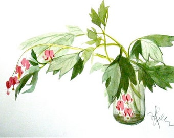 Bleeding Hearts - original painting by Gretchen Kelly