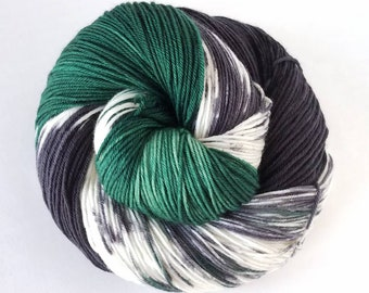 Vroom Vroom , Hand Painted Indie Dyed Yarn, Dyed to Order