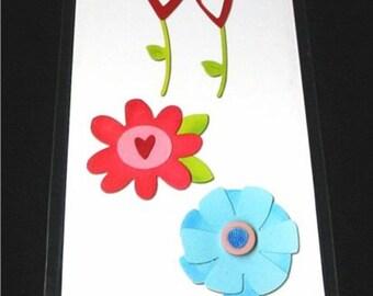 Flower Die Set #4 656762 Heart Flowers Sizzix Sizzlits Dies