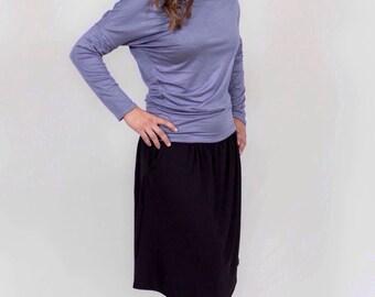 Asymmetrical top - Long sleeve shirt - Womens tops - Womens shirts - Dolman sleeve top - Dolman shirt - Shirts for women - Tops for women