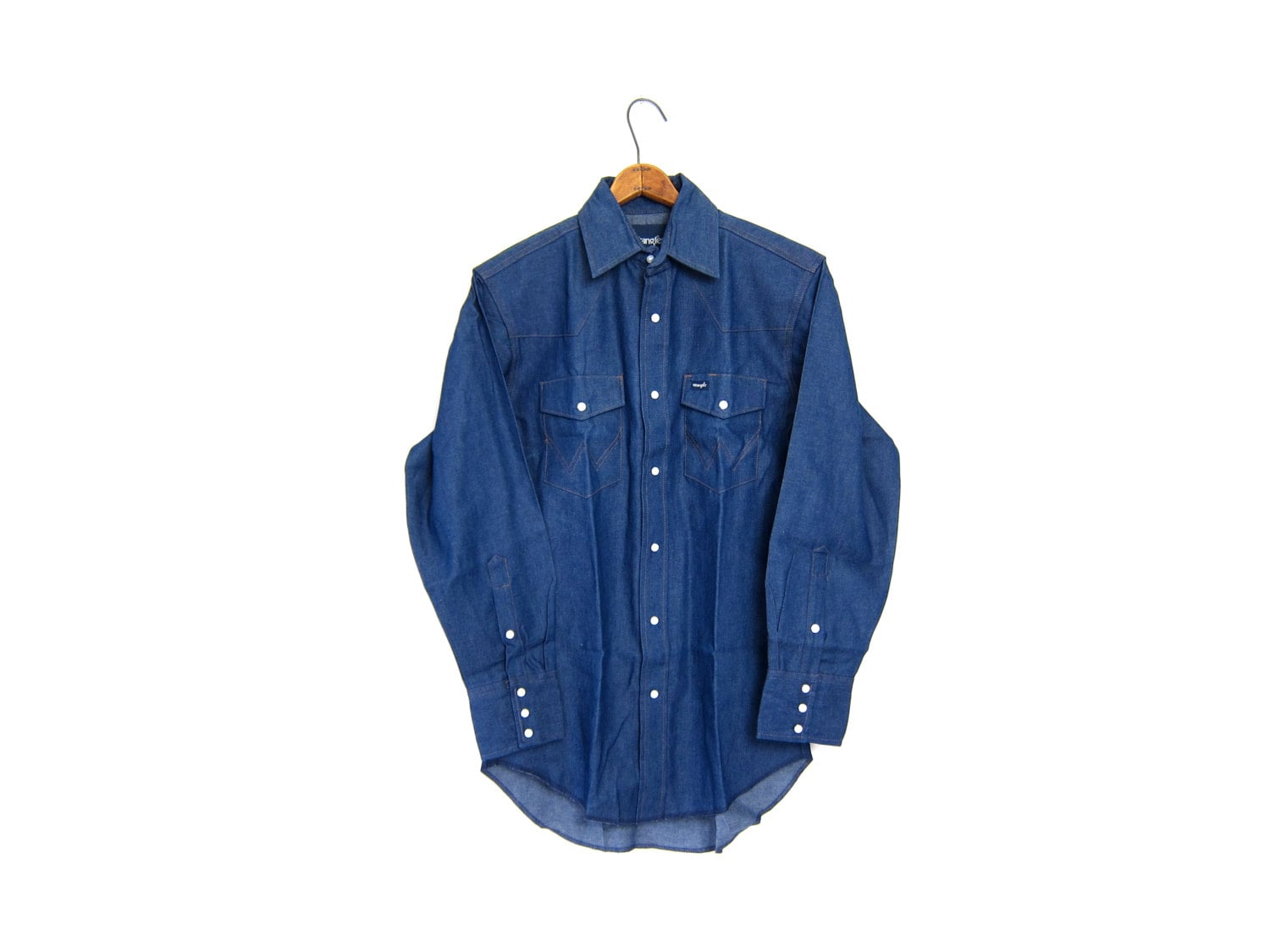 a899d3bd06 Vintage 80s jean shirt PEARL SNAP Western Shirt Wrangler button ...