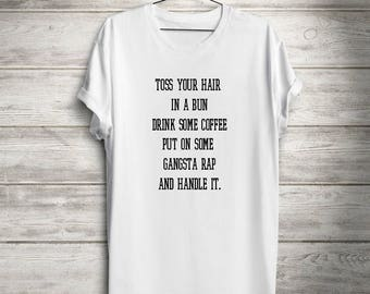 gabngsta rap tee, funny tee, women's clothing, tops and tees, t-shirt, tees, yoga clothing