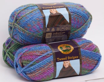 Bulky Yarn Lion Brand Tweed Stripes Prism