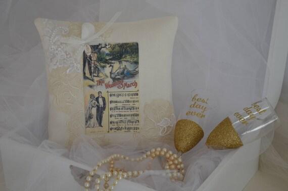 "Wedding Ring Bearer Pillow ""The Wedding March"""
