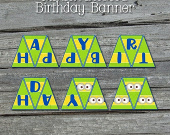 Minion Happy Birthday Banner - Printable - Digital Party Supplies - INSTANT DOWNLOAD