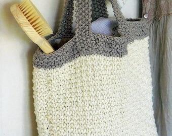 Instant Download - PDF- EASY Tote Bag Knitting Pattern (KA7)