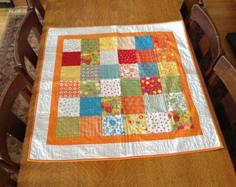 Bright Quilted Table Topper