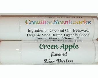 Green Apple Flavored Lip Balm