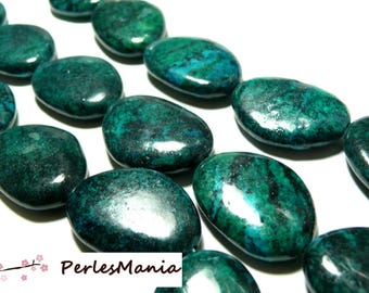 Beads for jewelry: 1 pendant Pearl Chrysocolla stone 24 by 33mm approx