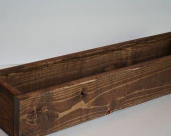 wood planter box wood box centerpiece planter box rustic farmhouse wood - Wood Planter Box