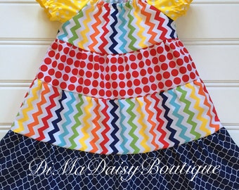 Summer Dress for Girl, Toddler Dress, Girl Birthday Dress, Little Girl Dress, Toddler Party Dress, Girl Rainbow Dress, Tiered Dress