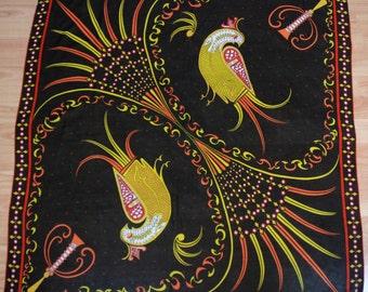 "vintage 60's EMILIO PUCCI Birds of Paradise silk scarf 34"""