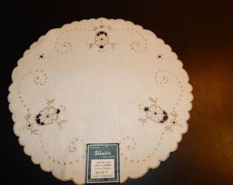 Vintage Sleater Linen Doily