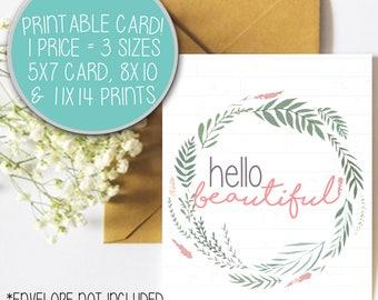 Happy Birthday Printable Card, 8x10 Enlargement Print, Birthday Card