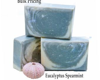 Eucalyptus Spearmint Soap Fathers Day Gift Bulk Pricied Soap Scented Soap Handmade Soap Cold Process Soap Vegan Soap Organic Soap