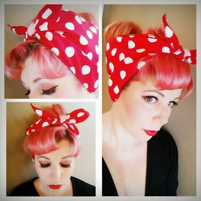 rosie the riveter hair style we can do it rosie the riveter with big white polka 2061 | il fullxfull.1331464049 ctdw