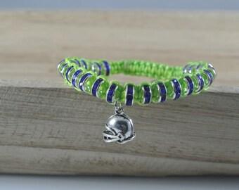 Seattle Seahawk colored bracelet