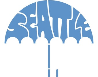 Umbrella Decal - Pacific Northwest - PNW Decal - Seattle Umbrella Decal