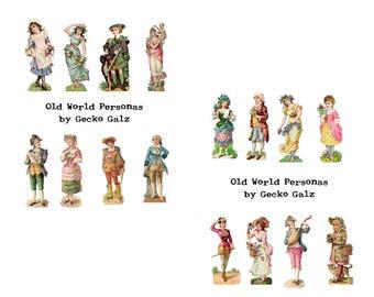 Old World Personas Digital Collage Set