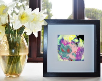 Marbled Flowers Art Print