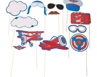 Plane Photo Props / Plane Theme / Up and away Theme /Boy's Party Theme/ airplane party/ airplane props