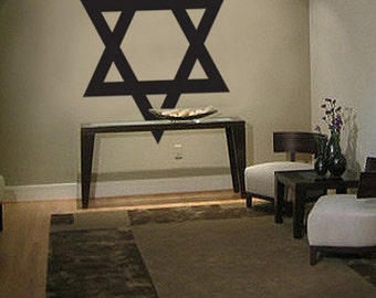Vinyl Wall Decal Sticker Jewish Star of David 557
