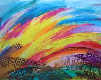 Abstract Art painting, Original Acrylic painting, Modern Fine art, Colorful wall art, Living room art, Wall art decor, Office Multicolor art