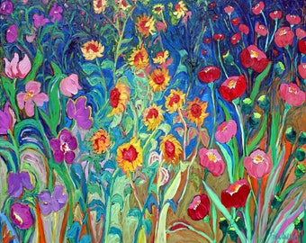 Ceramic Trivet - Garden Delight