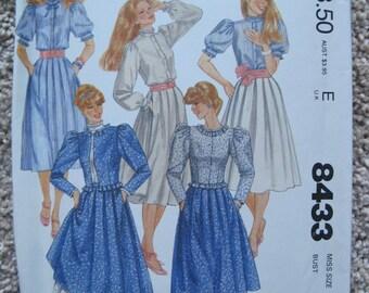 UNCUT Misses Jacket, Blouse and Skirt - Size 12 - McCalls Pattern 8433 - Vintage 1994