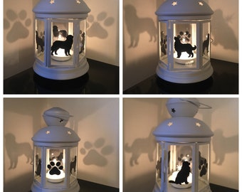 Bernese Mountain Dog Candle Lantern