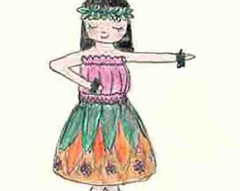 Cute hula dancer