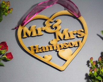 Mr and Mrs heart - Mr and Mrs love heart - wedding heart