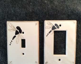 Dragonfly switch plate cover