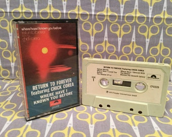 Where Have I Known You Before by Return to Forever Cassette Tape jazz prog rock Chick Corea