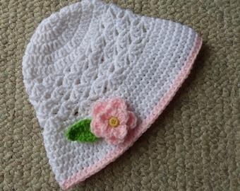 Flower Sun Hat Crochet Pattern for girls
