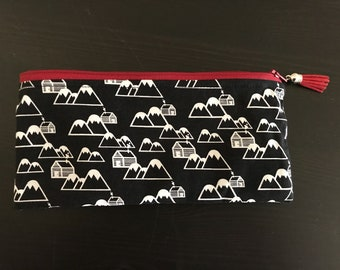 Cabins & Mountains Small Pouch