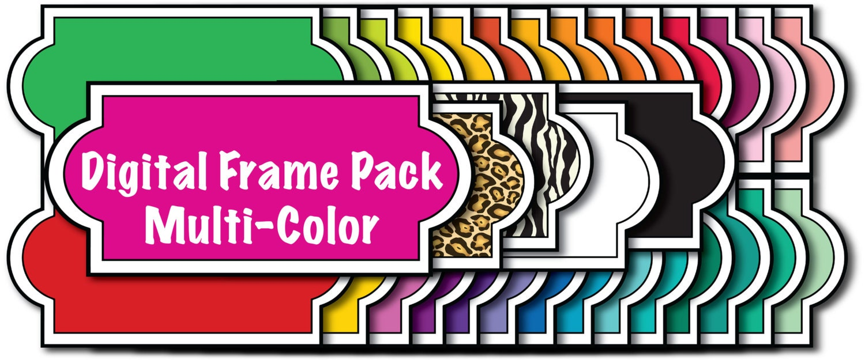 Clip Art Sammelalbum Etiketten Rahmen Farben digitale