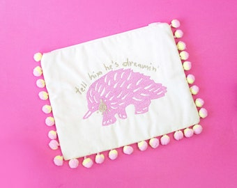 Tell Him He's Dreamin' Clutch - Handmade by Alice