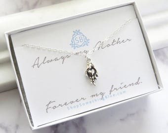 Gift for Mom • Heart in Hand Pendant • Love Necklace • Family Necklace • Mother's Necklace • Hand Holding Heart • Mother's Day Gift
