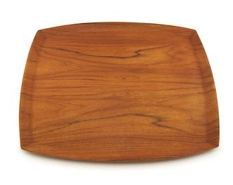 Serving tray ARY Nybro Sweden, Mid Century Vintage Large Thin Bent Teak veneer Wood, teak plywood, Tray, fanerprodukter, modernHouseware
