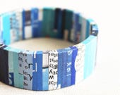 Melodic newspaper bracelet • Eco jewelry • Gift for copywriter • Creative jewelry • Chunky bracelet • Paper bracelet • Sustainable fashion